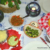 Mediterranean style FILLING for Mexican Tortillas