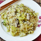 Noodles with Cabbage, Mushrooms and Roasted Seaweed