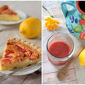 Rhubarb Lemon Sponge Pie