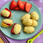 Lemon Madeleines with Mango and Raspberry Curd — and a chance to win a mixer!
