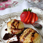 "Brie Cheese & Strawberry Puff Pastry ""Ravioli"" Recipe with Chocolate Sauce"