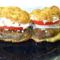 Feta Turkey Burgers with Gluten Free Buns