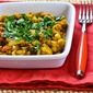 Recipe for Ground Chicken (or Turkey) and Chickpea Curry Stew with Yogurt and Cilantro