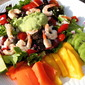 Tropical Shrimp Salad with Tangy Avocado Dressing