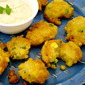 Corn Fritters with Green Chile Dip