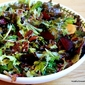 Roasted Beet Salad with Greens and Candied Pecans