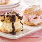 Cherry-Chocolate Cream Puffs