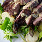 English Spring Tagliata – Lincoln Red Beef,Watercress , Asparagus and New Potatoes