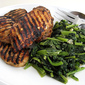 Jerk Chicken Breasts with Sautéed Mustard Greens