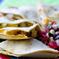 Hawaiian Barbecue Quesadillas and Black Bean Corn Salsa