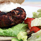 Ground turkey (Recipe: Greek turkey burgers with yogurt and feta sauce)