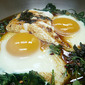 ottolenghi's baked eggs with yoghurt + chilli