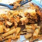 Baked ziti with sausage for a crowd in the wilderness