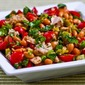 Recipe for Spicy Pinto Bean and Tuna Salad with Peperoncini, Tomatoes, and Parsley