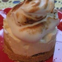 Frozen Lemon Cream Cakes with Toasted Meringue