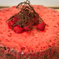 Raspberry and dark chocolate chip sour cream cake