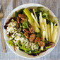 Apple, Pecan and Gorgonzola Salad with Honey Mustard Balsamic Vinaigrette