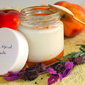 The entire Provence in a jar – Lavender yogurt with peach-apricot compote