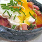 Baked Tomatoes with Ham and Egg; raw milk machine