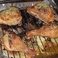 Chicken roasted with lime and maple syrup