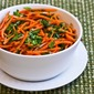 Recipe for Spicy Shredded Carrot Salad with Mint, Cilantro, Green Onion, Lime, and Jalapeno