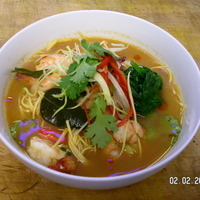 spicy Thai sea food soup tom yam