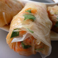 Crab with Rice Paper Rolls and Spicy Peanut Dipping Sauce