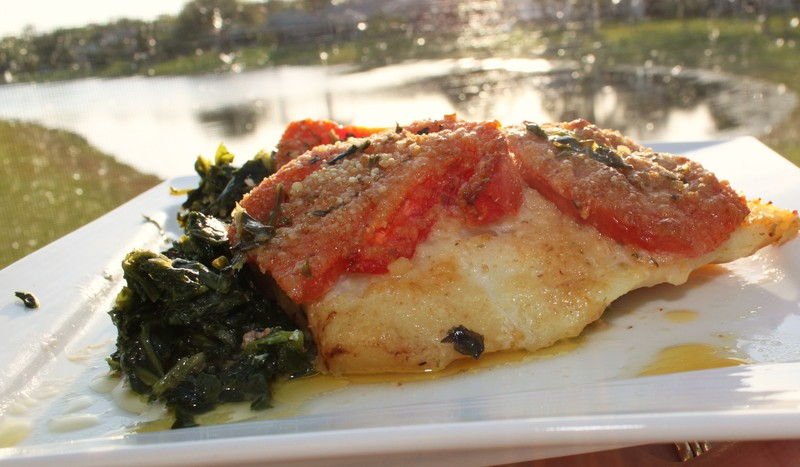 Baked Haddock with Spinach and Bread Crumb Tomatoes Recipe by Claudia ...