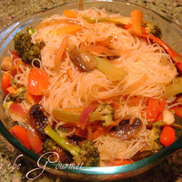 Image of Asian Style Baked Veggies With Rice Noodles Recipe, Cook Eat Share