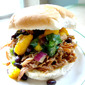 Dr. Pepper Pulled Pork with Mango Salsa
