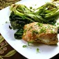 Wasabi Goat Cheese Stuffed Salmon with Miso