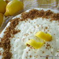 LEMON mousse frozen PIE no bake - updated