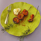 Kabob Party- Easy Grilled Plums with Rosemary Balsamic Glaze