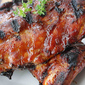 Grilled Baby Back Pork Ribs with Molasses & Bourbon Sauce Recipe