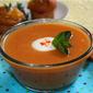 Peach folie – Peach-mint soup and peach-rosemary bouchées