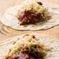 Refried Bean Burritos with Hot Taco Sauce