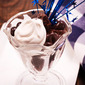 Dark Chocolate Cherry Brownie Parfaits and a la Mode