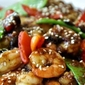 Spicy Blackbean Ginger Shrimp