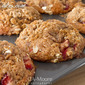 Banana Strawberry Muffins with Oat Streusel