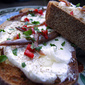 Labneh with chilli and anchovy: comfort snack du jour