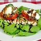 Fried Red Tomato and Grilled Chicken Salad