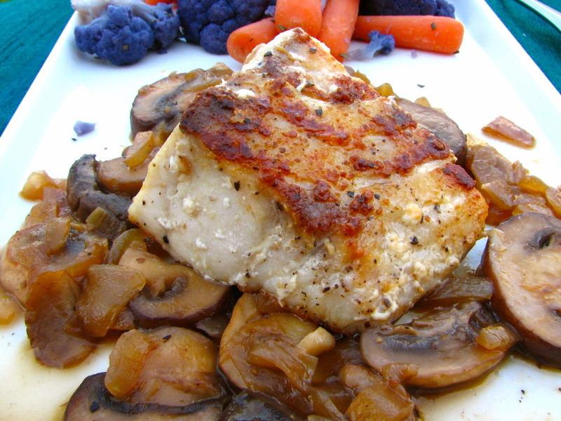Pan-Seared Sea Bass in a Marsala Sauce Recipe by Baking ...