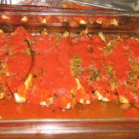 Eggplant stuffed with tomato and garlic - Iman Bayeldi