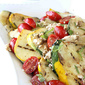 Grilled Pattypan (or Summer) Squash, Tomato & Feta Cheese Salad Recipe