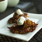 Ruby Sensation Potato Pancakes with Apple-Bacon Chutney