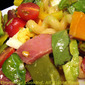 Cobb Pasta Salad; Clandestine garden goings-on