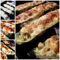 Peynirli Gondol Kabak(Stuffed Zucchini with Cheese)