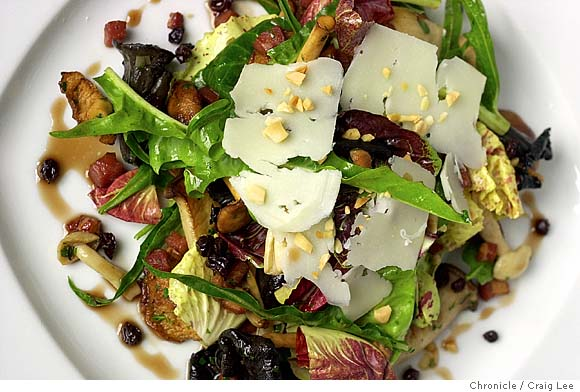 Salad with Wild Mushrooms, Manchego and Pancetta Vinaigrette Recipe ...
