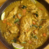 Chicken cooked with Lentils and Vegetables (Chicken Dhansak)