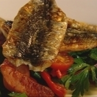 Sardines with chorizo & roast capsicum